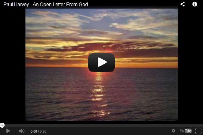 Paul Harvey Open Letter From God